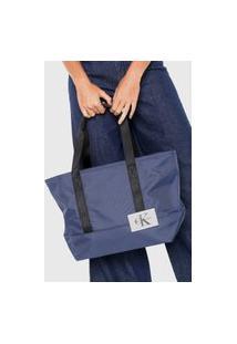 Bolsa Sacola Calvin Klein Grande Azul-Marinho