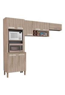 Cozinha Compacta Ametista 8 Portas Composiçáo 4 Nogal - Kit'S Paraná