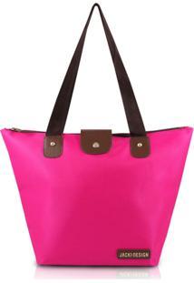 Bolsa Dobrável Tamanho G Lisa Jacki Design Essencial I Pink