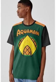 Camiseta Bandup Aquaman Logo - Masculino-Verde