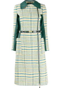 Elisabetta Franchi Trench Coat Com Zíper - Verde