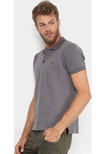 Camisa Polo Gangster Piquet Com Elastano Masculina - Masculino-Grafite