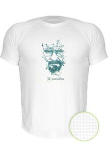 Camiseta Manga Curta Nerderia Breaking Bad Splash Heisenberg Branco
