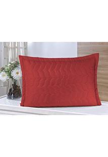 Porta Travesseiro Avulso Vermelho