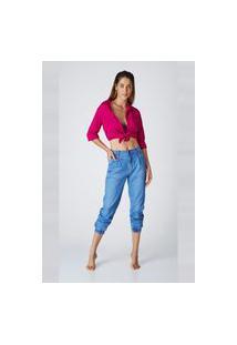 Calça Jeans Express Jogger Mom Mônica Preto