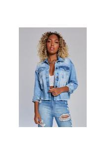Jaqueta Jeans Kondzilla Denim 214Kz00001 Azul
