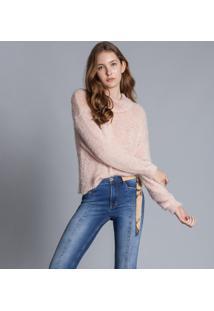 Calça Flare Malibu Com Faixa Jeans - Lez A Lez
