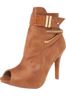 Ankle Boot Crysalis Tiras Caramelo