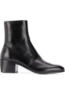 Saint Laurent Ankle Boot James - Preto