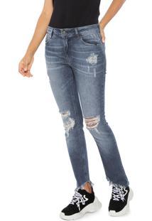 581d836575c03 ... Calça Jeans Ellus Skinny Assimétrica Azul