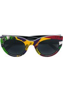 Versace Eyewear Óculos De Sol Com Estampa Vogue - Amarelo
