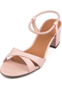 Sandália Trivalle Shoes Rosê Com Tiras