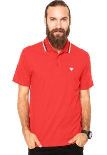 Camisa Polo Cavalera Basic 2 Frisos Vermelha