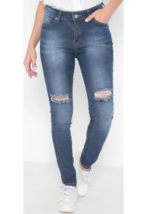 Jeans Super Skinny Destroyed- Azul- Guessguess