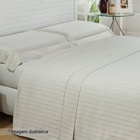 6838320053 Jogo De Cama Messina De Casal- Off White   Cinza Claro