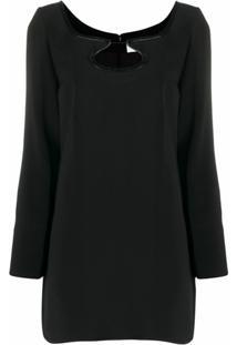 Courrèges Vestido Com Detalhe Vazado - Preto