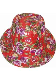 Chapéu Real Arte Florido Vermelho.