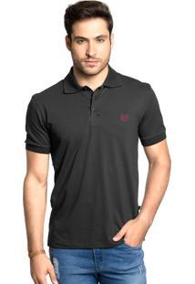 Camisa Polo Tony Menswear Com Elastano Preto