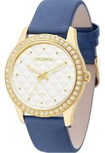 Relógio Technos Fashion Trend 2035Lxt/2K Feminino - Feminino-Dourado+Azul