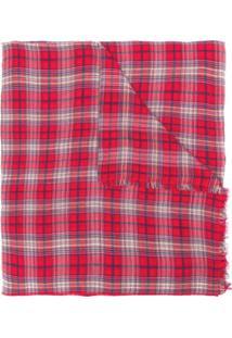 Isabel Marant Echarpe Tartan De Lã - Vermelho