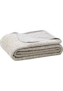 Cobertor Blenda Fashion Queen Size- Bege & Cinza Claro