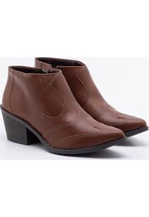 Ankle Boot Dakota Recortes Castanho 35