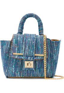 Alila Bolsa Tote De Tweed Pequena - Azul