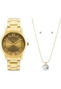 Kit Relógio Allora Feminino Algodão Doce Al2035Fna/K4D - Al2035Fna/K4D - Feminino-Dourado