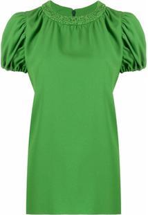 Kenzo Blusa Com Mangas Bufantes - Verde