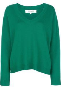 Diane Von Furstenberg Suéter Decote Em V - Verde