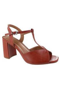 Sandália Salto Alto M Shuz Grandiose Brown - Marrom