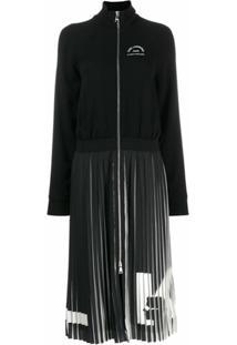 Karl Lagerfeld Vestido Com Pregas 'Rue St Guillaume' - Preto