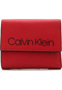 Carteira Calvin Klein Logo Vermelha