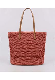 Bolsa Feminina Shopper Com Alças Fixas Vermelha