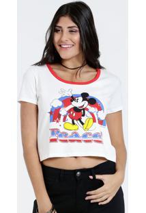 Blusa Feminina Cropped Mickey Disney