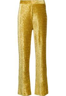 Frenken Calça Flare Cintura Alta - Amarelo