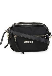 Bolsa Santa Lolla Mini Bag Nylon Feminina - Feminino-Preto
