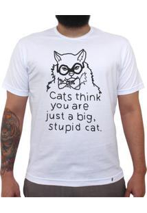 Stupid Cat - Camiseta Clássica Masculina