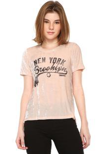 Camiseta Tricats Veludo Brooklin Rosa
