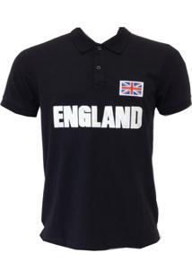 Camisa Polo England Leeds Preta