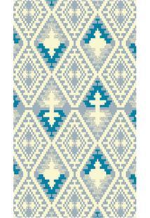 Tapete Lyre Geométrico- Azul & Amarelo Claro- 200X15Tapete São Carlos