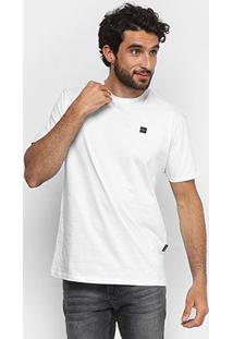 Camiseta Oakley Manga Curta Masculina - Masculino-Branco