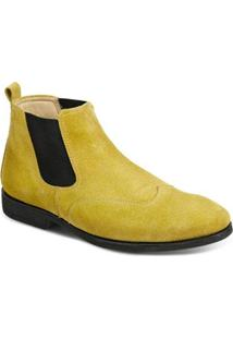 Bota Sandro & Co Masculina - Masculino-Amarelo