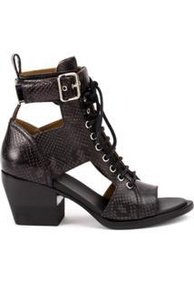 Chloé Cutout Ankle Boots - Preto