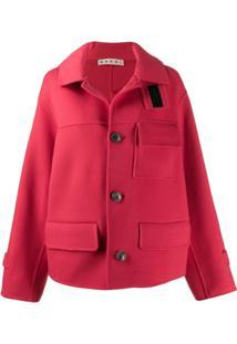 Marni Double-Face Short Coat - Vermelho