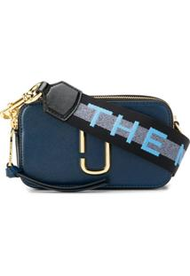 Marc Jacobs Small Logo Snapshot Camera Bag - Azul