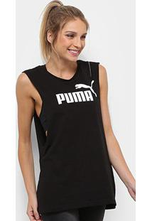 Camiseta Regata Puma Cut Off Boyfriend Tank Feminina - Feminino