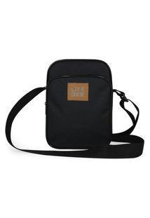 Bolsa Top Shoes Shoulder Bag Life Duke Masculina Casual Preto