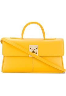 Cafuné Bolsa Tote Stance Mini De Couro - Amarelo