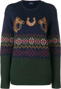 6eee6b4694374 ... Polo Ralph Lauren Suéter De Tricô - Azul